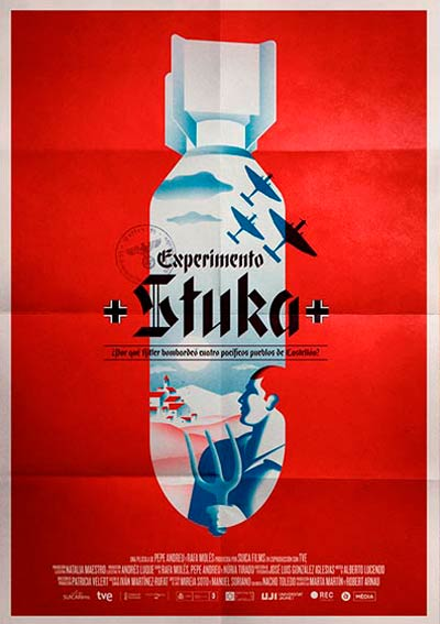 Cartel Experimento Stuka en Cine Club Lys